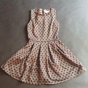 1959s styles polka dot pleated dress